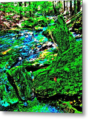 Abstract Brook Bits 56 Metal Print
