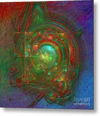 Metal Print featuring the digital art Abstract Bubble by Alexa Szlavics
