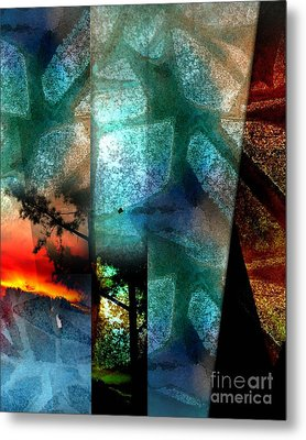 Metal Print featuring the digital art Abstract Calling by Allison Ashton