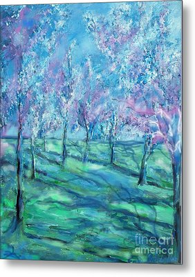 Abstract Cherry Trees Metal Print by Eric  Schiabor