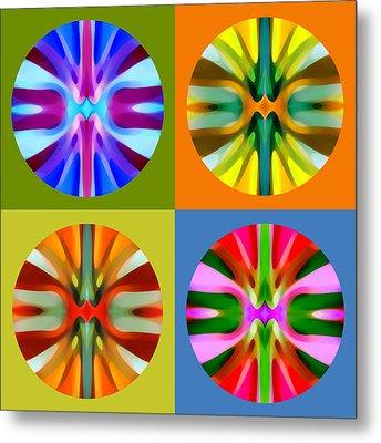 Abstract Circles And Squares 1 Metal Print by Amy Vangsgard