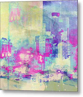 Abstract City Metal Print by Mark-Meir Paluksht