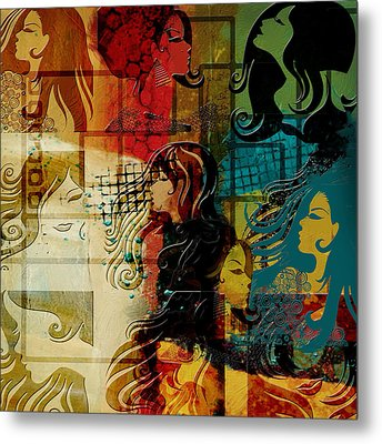 Abstract Collage 01 Metal Print by Corporate Art Task Force