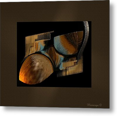 Abstract Collage Metal Print by Ines Garay-Colomba