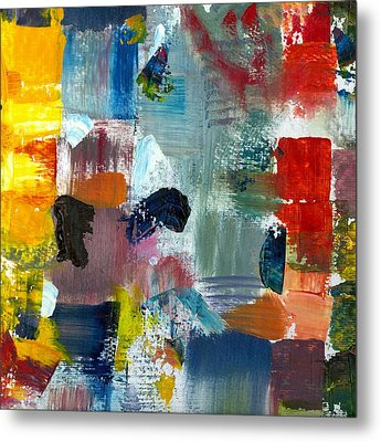 Abstract Color Relationships Lv Metal Print by Michelle Calkins