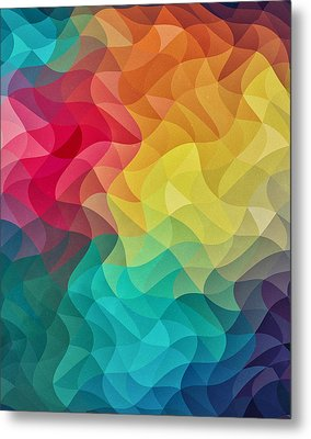 Abstract Color Wave Flash Metal Print