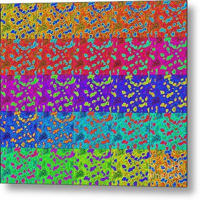 Abstract Colorful Art Print No.318. Metal Print by Drinka Mercep