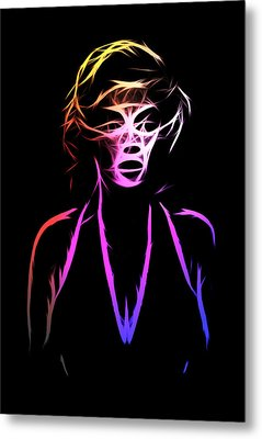 Abstract Colorful Monroe Metal Print by Steve K