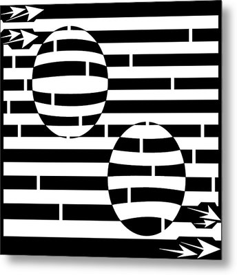 Abstract Concave Convex Maze  Metal Print by Yonatan Frimer Maze Artist