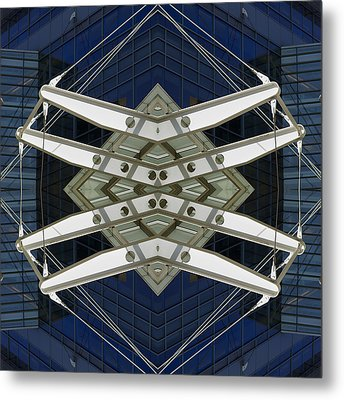 Abstract Construction Metal Print by Rick Mosher