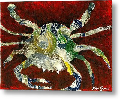 Abstract Crab Metal Print