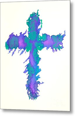 Abstract Cross Metal Print by Pattie Calfy