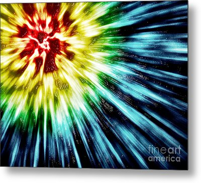 Abstract Dark Tie Dye Metal Print by Phil Perkins