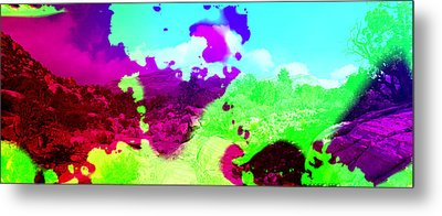 Abstract Desert Scene Metal Print by Alan and Marcia Socolik
