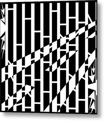 Abstract Distortion Driving Road Maze  Metal Print by Yonatan Frimer Maze Artist