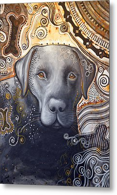 Metal Print featuring the painting Abstract Dog Art Print ... Rudy by Amy Giacomelli