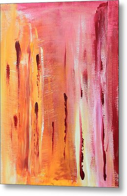 Abstract Drops  Metal Print