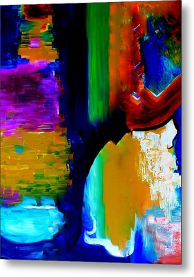 Abstract Du Colour Metal Print by Lisa Kaiser