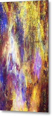 Abstract E - From Series 1 Metal Print by J Larry Walker