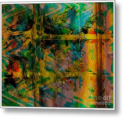 Abstract - Emotion - Facade Metal Print by Barbara Griffin