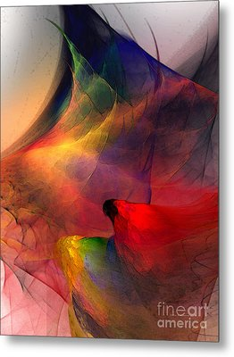 Abstract Exotic Birds Metal Print