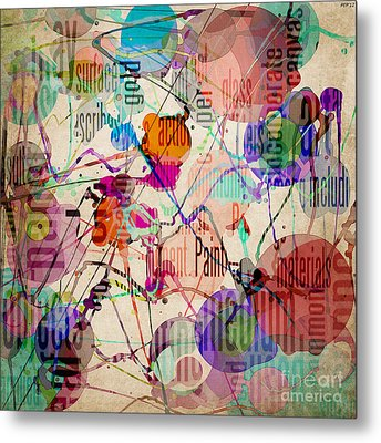 Metal Print featuring the digital art Abstract Expressionism by Phil Perkins