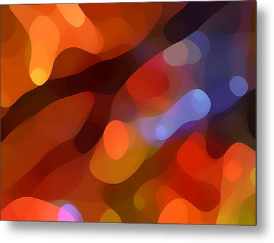 Abstract Fall Light Metal Print by Amy Vangsgard
