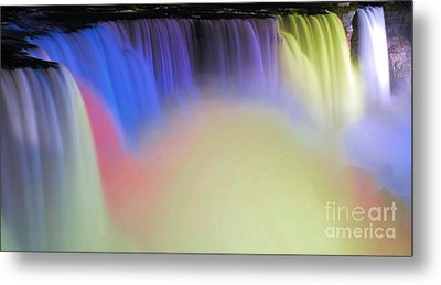 Abstract Falls Metal Print by Kathleen Struckle