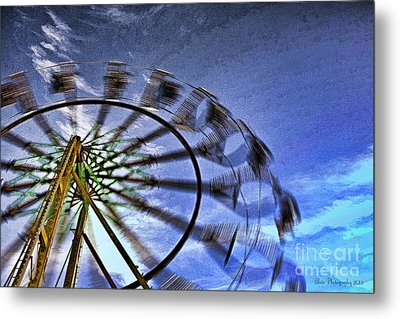 Metal Print featuring the photograph Abstract Ferris Wheel by Linda Blair