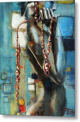 Abstract Figure Work Metal Print by Catf