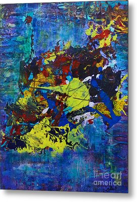 Abstract Fish  Metal Print by Claire Bull