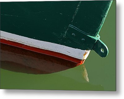 Abstract Fishing Boat Bow Metal Print by Juergen Roth