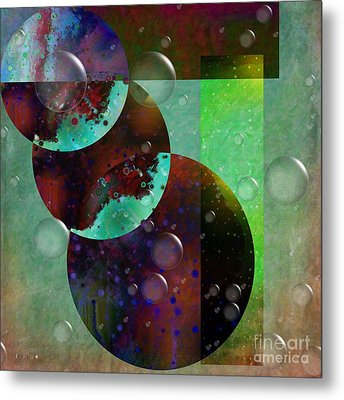 Abstract - Floaters Metal Print by Liane Wright