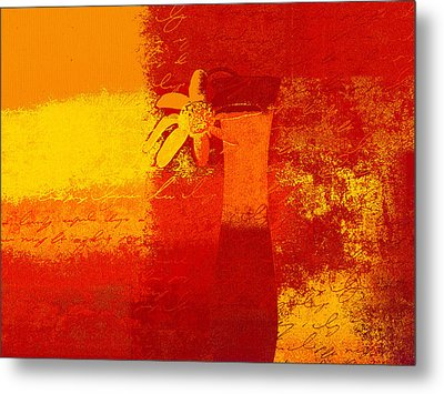 Abstract Floral - 6at01a Metal Print by Variance Collections
