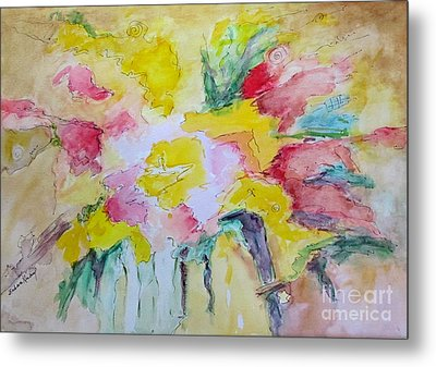 Abstract Floral Metal Print by Barbara Anna Knauf