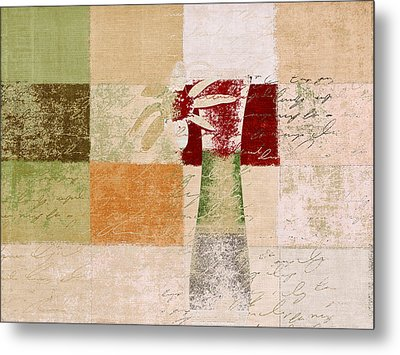 Abstract Floral - H11v3t9b Metal Print