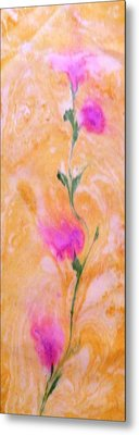 Metal Print featuring the painting Abstract Floral by Mike Breau