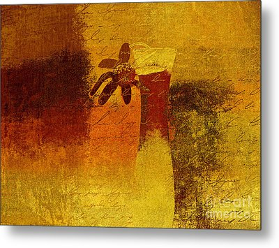 Abstract Floral - P01bt01c11c Metal Print by Variance Collections