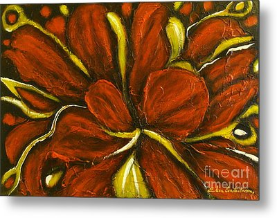 Abstract Flower Metal Print by Elena  Constantinescu