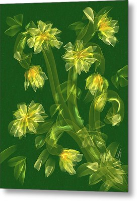 Abstract Flower Field Metal Print by Veronica Minozzi