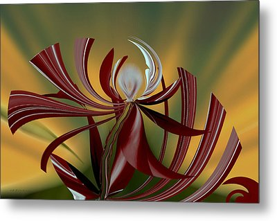 Abstract - Flower Metal Print