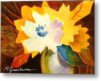 Metal Print featuring the painting Abstract Flowers 2 by Marilyn Jacobson