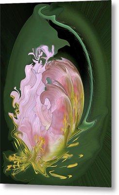 Abstract Flowers, Digitally Manipulated Metal Print by Jaynes Gallery