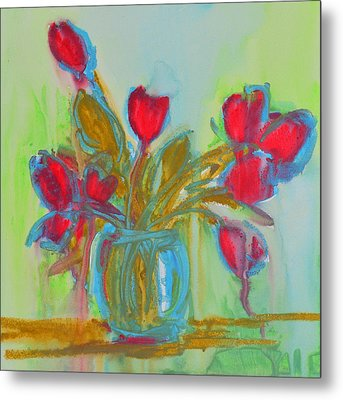Abstract Flowers Metal Print by Patricia Awapara