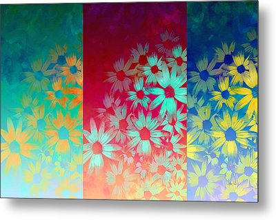 abstract  - flowers- Summer Joy Metal Print by Ann Powell