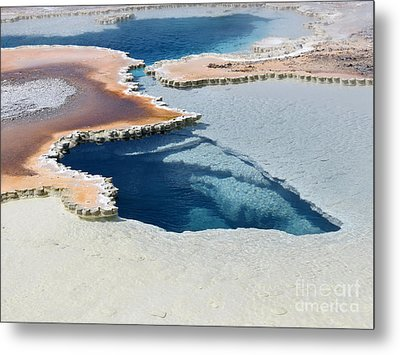 Abstract From The Land Of Geysers. Yellowstone Metal Print by Ausra Huntington nee Paulauskaite