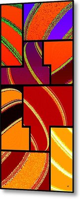 Abstract Fusion 232 Metal Print by Will Borden