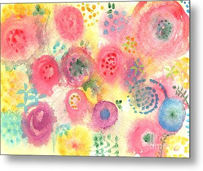 Abstract Garden #45 Metal Print by Linda Woods