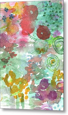 Abstract Garden Metal Print by Linda Woods
