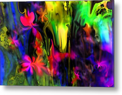 Abstract Garden Of Flowers Metal Print by Sherri's Of Palm Springs